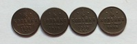 Russian Copper Coins 1/4 Kopek 4 mixed date copy Free shipping