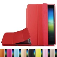 Guard Skin Shell Magnetic Flip Microfiber Smart Cover Sleep Wake Case with Stand for iPad Air 2 / iPad 6 2014 Version