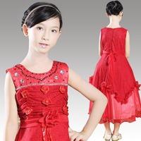 High Quality New Fashion Children Evening Dress For Wedding Vestido de Daminha Flower Girl Dresses