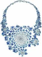 Babysbreath sapphire Necklace 925 sterling silver jewelry Toparizona jewelry