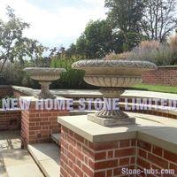 landscape design with stone pictures outdoor urns garden flower pots