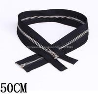 Wholesale 5 # metal  Opening zipper long 50CM100 / bag Free Shipping