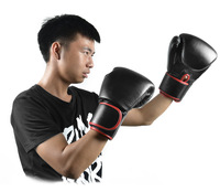 2014 New 1 Pair Black Heavy Boxing PRO Style Training Gloves Sparring Gloves Free shipping