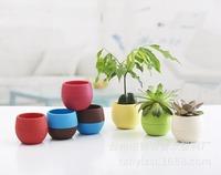 Free shipping 200pcs/lot Wholesale Flowerpot,Five colors diameter 7cm Small flower pot planters for Desktop