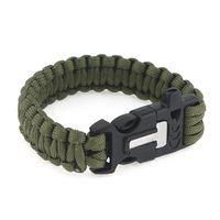 Outdoor Survival Bracelet Paracord Flint Fire Starter Scraper Whistle Gear Kits 270332 270333