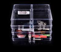 New 2014 Acrylic Crystal Makeup Cosmetic Organizer Storage Case Box Organizer Jewelry Organizer Case Box