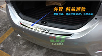 Outer Stainless Steel Rear Bumper Protector Guard Plate Sill with black words For Toyota 11th Corolla  2014