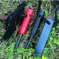 Survival whistle Field camping survival magnesium flint The bar ignition fire starter free shipping flintstone