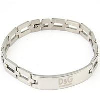 Brand design Bangles 316L steel bracelet punk retro LOGO nameplate long silver link bracelet Gothic jewelry gift