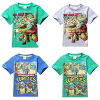 Retail 1pcs fashion cartoon character teenage mutant ninja turtles kids t shirt summer fashion boys girls t-shirt tops clothing