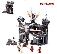 BELA 9735 552pcs 2013 large Ninjago Ninja minifigures Garmadons Dark Fortress weapons building block sets eductional kids toys