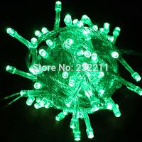 33Ft 100LED Christmas String Lights Green Light Xmas Tree Flashing Light P4PM