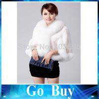 Free shipping YF0706 fur vest vintage imitation fox fur collar Rex rabbit fur short coat imitation fake fur waistcoat shawl