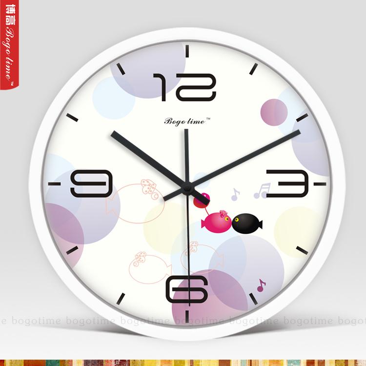 fashion Quartz 12-Inch Hunter silver &white and black aluminum Wall Clock(China (Mainland))