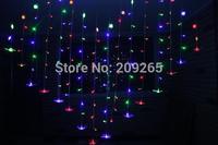 heart shape 2m 128leds led string light holiday decoration light decoration ligh for party /wedding 220v