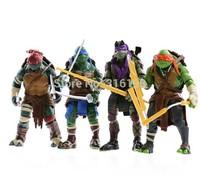 drop shipping 4 pieces/set 12cm Anime Cartoon TMNT Teenage Mutant Ninja Turtles PVC Action Figure Toys Dolls