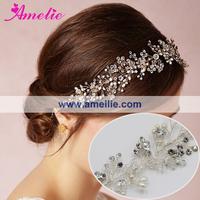 Free Shipping Crystal Wedding Bridal Vines With Rhinestone and Beads Decoration Wedding Hair Vines