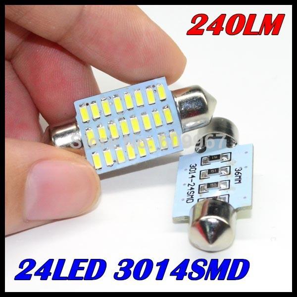 Источник света для авто OEM 100 31/36 39/42 3014 24SMD 24LED 3014 SMD 240lm