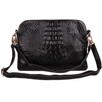 Fashion 2013 for Crocodile cowhide messenger bag women's large clutch women's handbag genuine leather bag
