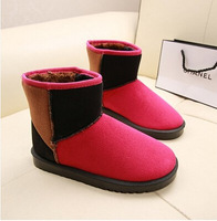 2015 Autumn and winter women's flat heel snow boots cotton-padded boots ankle-length winter boots warm pls choose 1 size larger