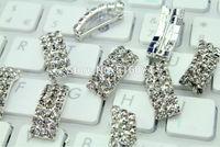 20pcs/lot 21x8x7mm fashion silver Rhinestone bow Button Wedding Invitation decoration, hair accessories,propmotion price,quality