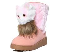 Women's Fox Fur Platform Snow Boots winter cute boots