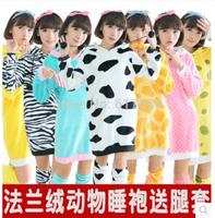 Anime Pokemon Pikachu Cow Zebra Warm Winter Spring Hooded Robes Onesie Jumpsuit Cosplay Winter Costumes Bathrobe Women Nightwear