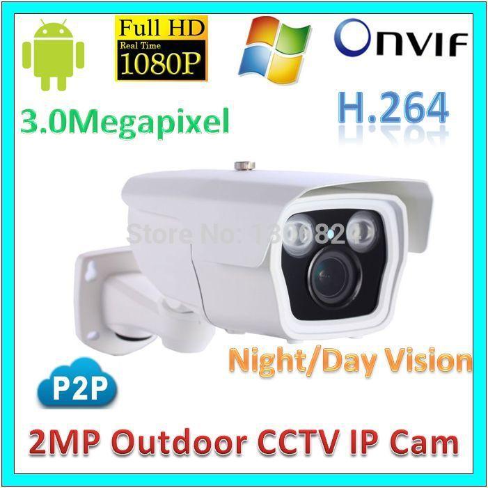 Real Time 3MP Network IP Camera System IPC IR Night Vision Waterproof P2P 2.0Megapixel Outdoor Mini Digital 1080P Network Webcam(China (Mainland))