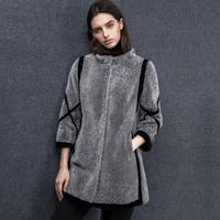 Stand collar wrist-length sleeve straight berber fleece fur coat medium-long female