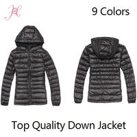 2014 New Winter Jacket Woman's Outerwear Slim Hooded Down Jacket Woman Warm Down Coat Women Light White Duck Down