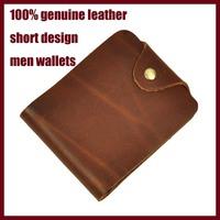 2014 new design men wallet real leather change men purses fashion design cash card men wallets crazy horse cow skin men money