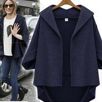 2014 European Grand Prix Ladies temperament fall new loose bat sleeve woolen coat sleeve woolen coat femalexjh60