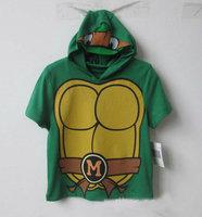 2014 NEW ARRIVAL I Am Michelangelo Adult Costume Teenage Mutant Ninja Turtles short-sleeve top Ninji summer t shirts for boys