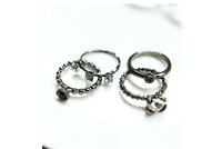 Ring Korean Female Fashion Exaggerated Personality Influx Ring Vintage Denim Jacket Rings