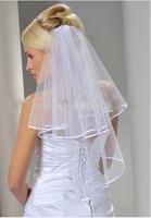 Veu De Noiva White Two Layer Wedding Veil Short Wedding Veil With Comb Veu De Noiva Curto
