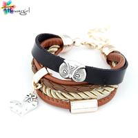 Newest Charm Bracelet Wholesale Unisex Owl Leather Punk Multilayer Fashion Unique Bangle Bracelets For Women [CN8190]