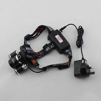 Free shipping 5000 Lumen 3x CREE XM-L T6 + 2x R5 LED Rechargeable Headlamp Headlight Light Head lamp floodlight+Ac Charger