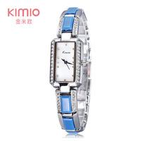 2104 Luxury Brand KIMIO Bracelet Watch Women Dress Watch Quartz Rhinestone Shell Rectangle Dropshipping
