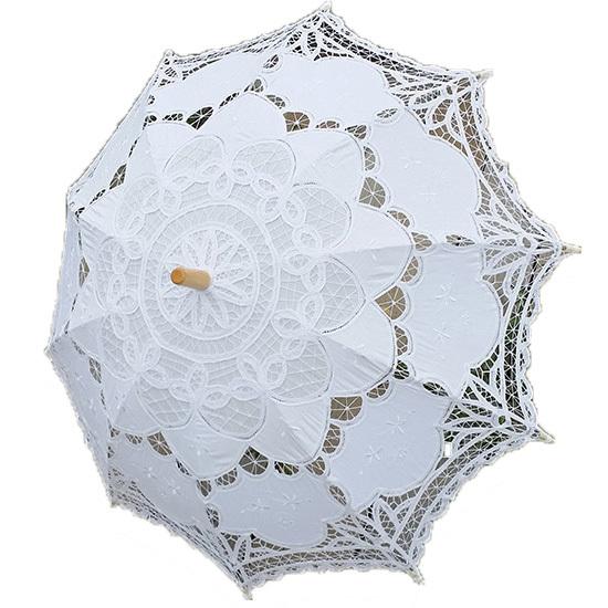 """30"""" tagliato lavoro nero fashional parasole ricamato pizzo ombrellone da sposa damigella sposa decorazione di spedizione free party 601"""