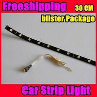 Free Shipping 10pcs/lot 30cm 15 LED 5050 SMD waterproof flexible white light led car strip