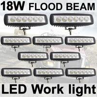 10X18W Fog light 6 inch 18W LED Work Light Bar Flood Driving Lamp Off Road 4WD
