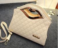 Noble Women Leather Handbag 2015 New Fashion Women Bag Lips Bolsas Shoulder Bag Women Messenger Bags Lady Tote Clutch B660