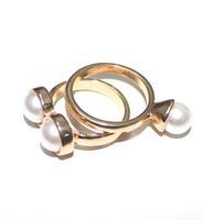 New alloy Pearl Ball finger ring gift for women girl lovers' wholesale good quality