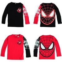Boys Girls T-shirts Clothes Baby Tees Children's Spiderman Autumn Cartoon Children T shirts Children Hoodies roupas meninos