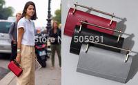 New Fashion Metal Bar Handbag Day Clutch High Quality