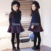 LittleSpring Frozen Elsa & Anna Princess Children's casual dress hot sale girls dress lace princess one-piece girls dresses