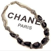 Chain perfect black vintage short necklace design female fashion accessories