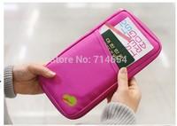 100 PCS/Lot New Travel Accessories Passport Credit ID Card Cash Holder Organizer Wallet Purse hand bag passport bags covers