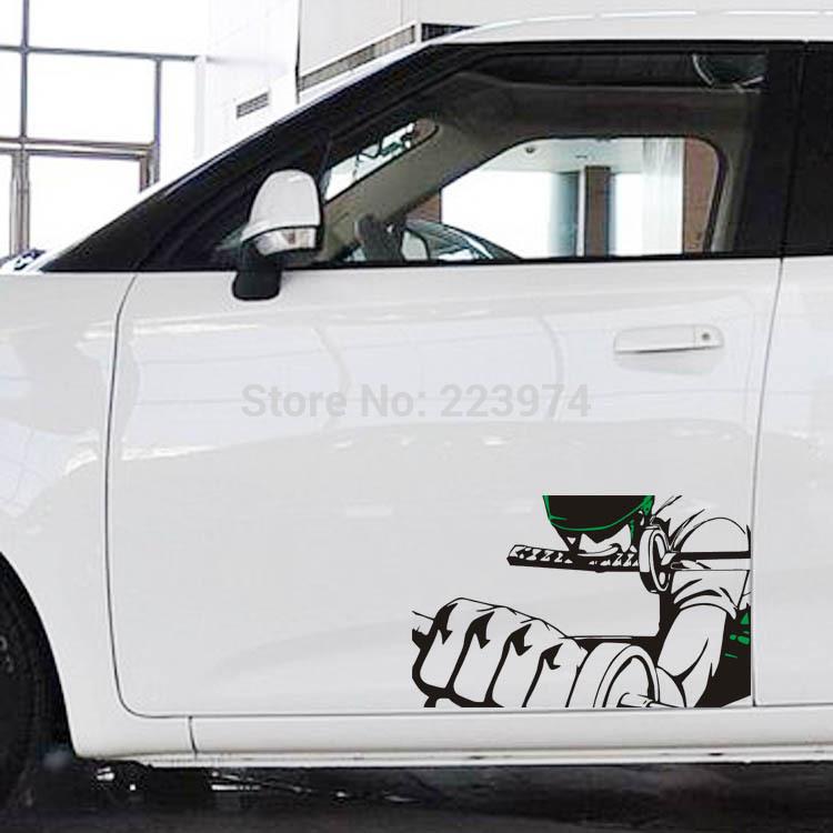 Free shipping a pair Car sticker cartoon car stick sauron solo stickers Automotive exteriors(China (Mainland))
