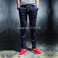 Free shipping 2014 new fashion brand mens casual pants slim hip hop harem pants western-style dress pants for men